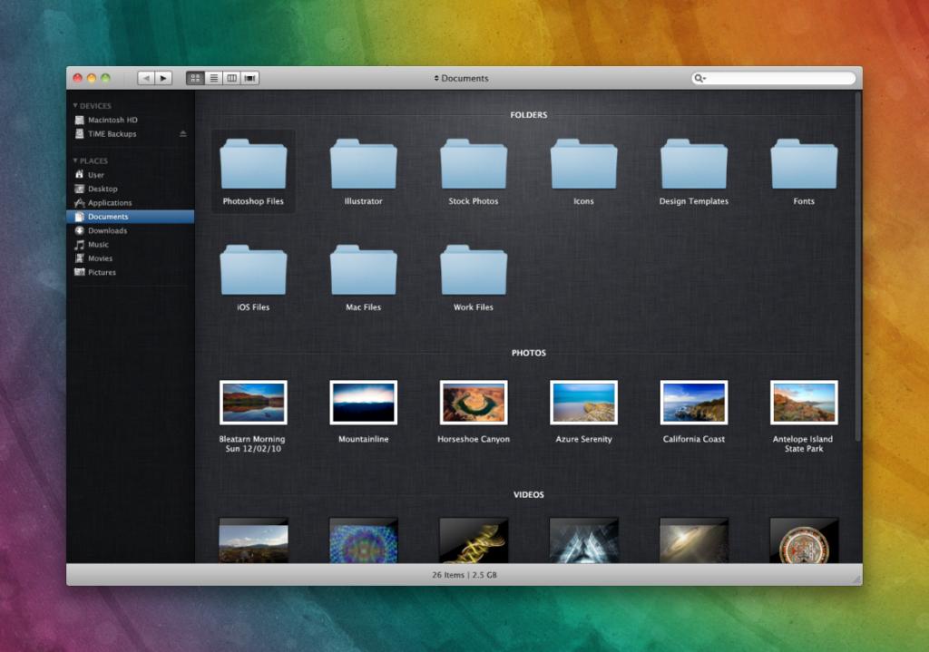 Finder на Mac OS X Lion