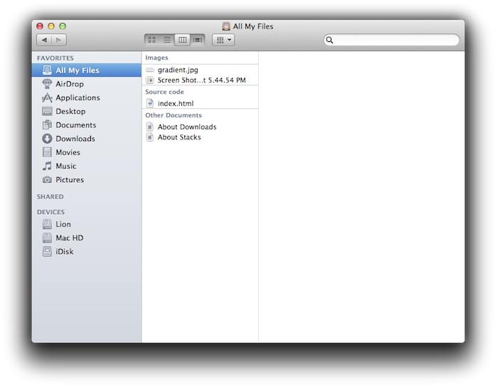 Finder Mac OS Lion
