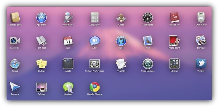 LaunchPad Mac OS X Lion