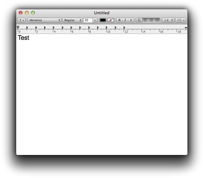 TextEdit Mac OS Lion