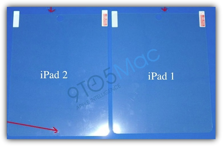 Сравнение защитной пленки iPad и iPad 2