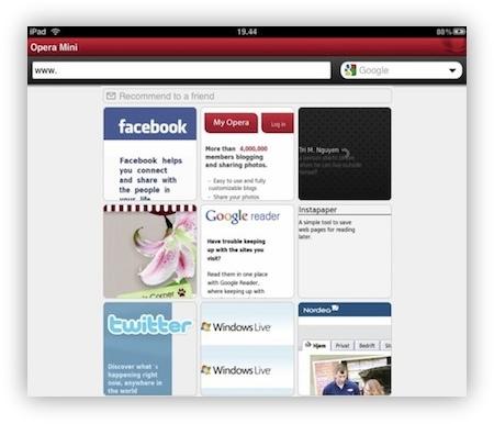 Opera Mini iPad