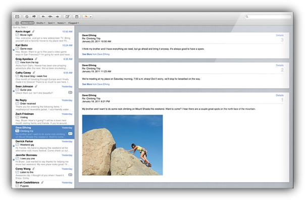 Mail Mac OS Lion