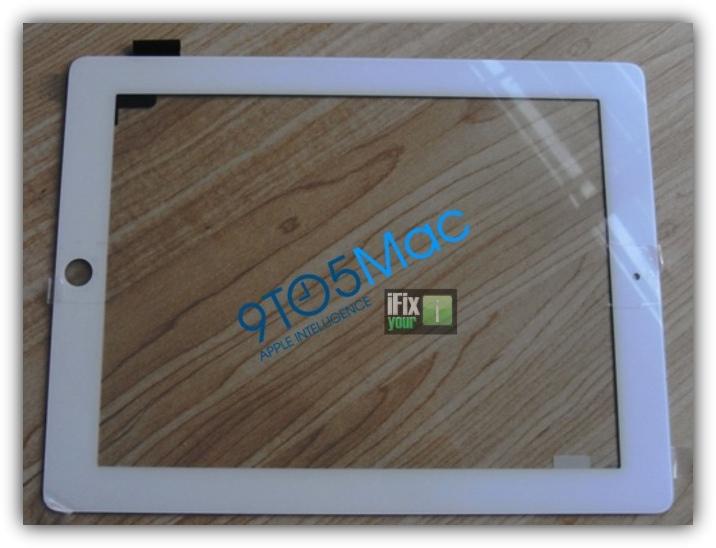Лицевая панель iPad 2 белого цвета