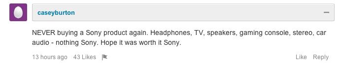 Отзыв о Sony