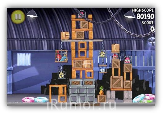 Angry Birds Rio - Сарай
