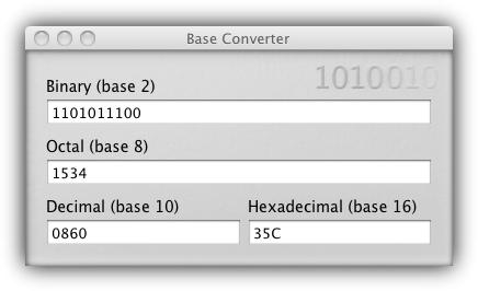 Base Converter - окно программы