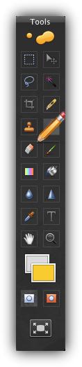 Pixelmator - Основная панель инструментов