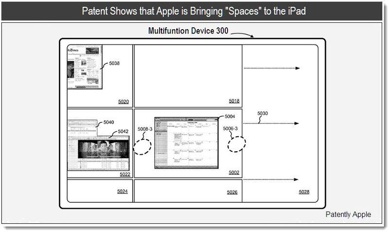 Патент Apple - Spaces на iPad