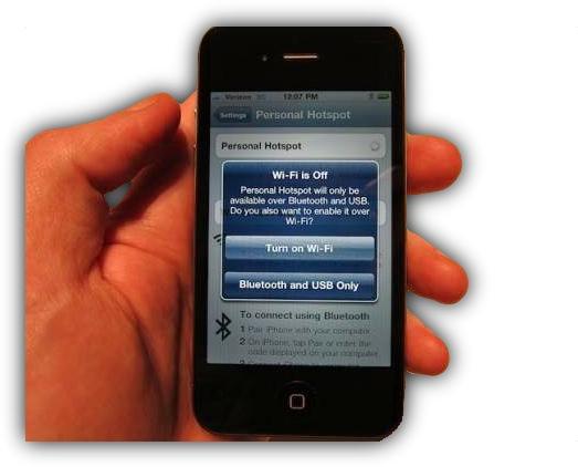 Персональная точка доступа WiFi на iOS 4.3