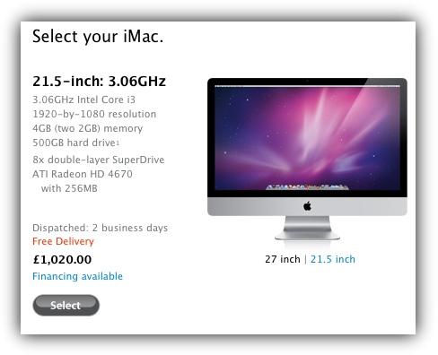 iMac - доставка в течение двух рабочих дней