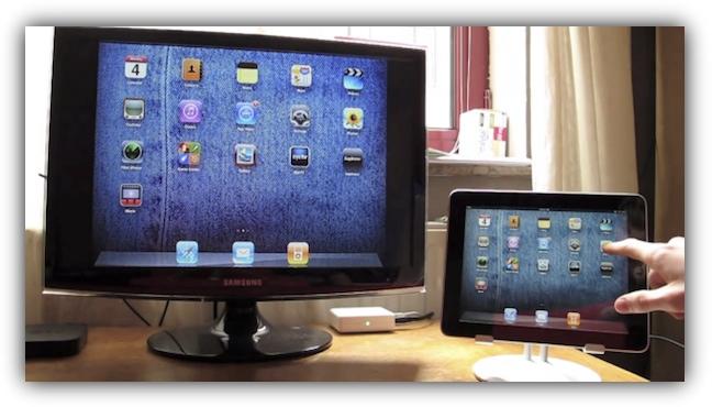 iPad 1 в режиме зеркального отображения