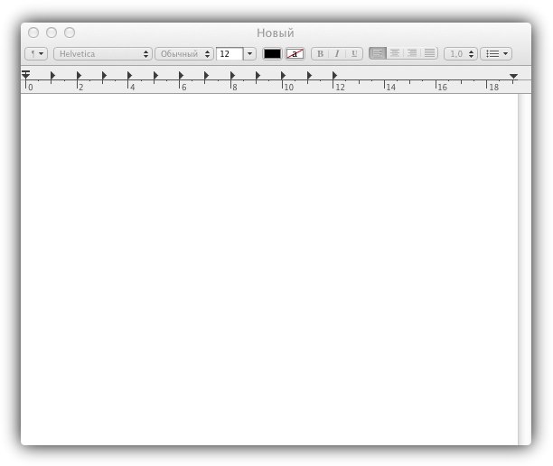 TextEdit в Mac OS Lion