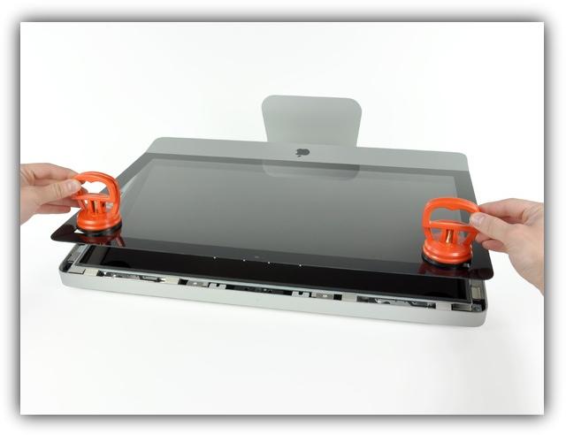 iMac2011 - отделение стеклянной крышки