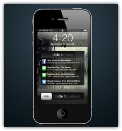 iOS 5 - концепт новой системы уведомлений
