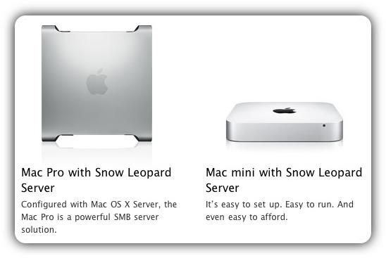 Apple Mac mini server и Mac Pro server