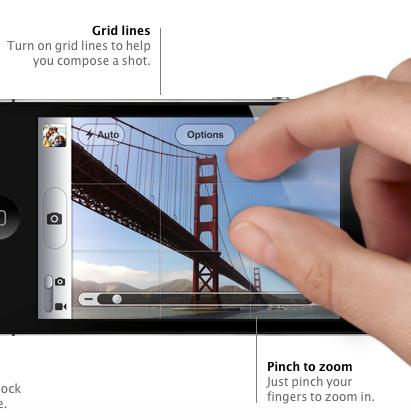 iOS 5 - Сетки в Камере