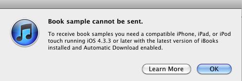 iTunes 10.3 - ошибка при загрузке книги