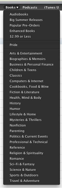 iBooks в iTunes 10.3