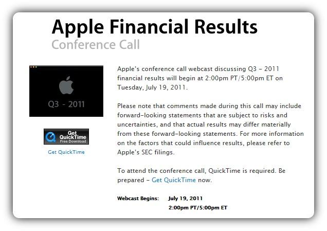 Отчет за третий финансовый квартал 2011