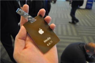 WWDC 2011 - бейдж СМИ