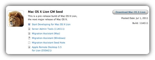 OS X Lion GM