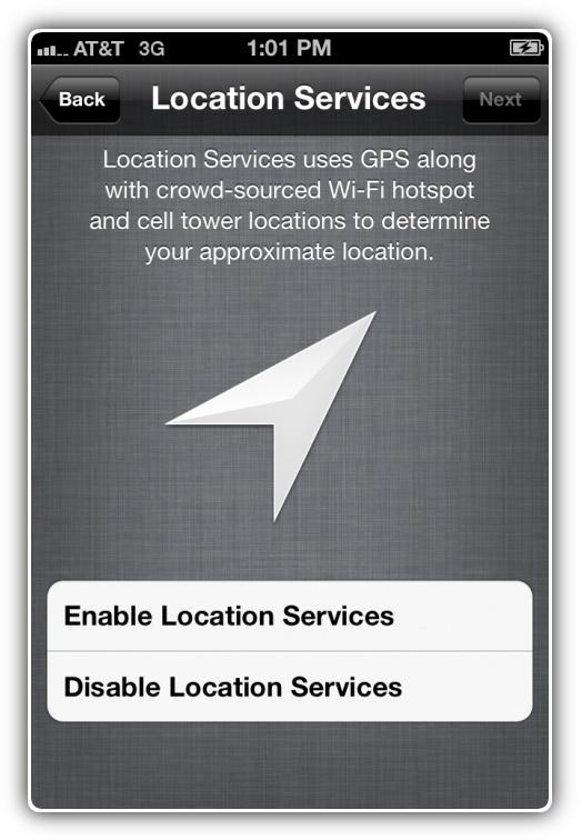 Сервисы локации iOS 5 beta 3
