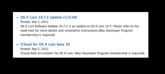OS X 10.7.2 Build 11C48