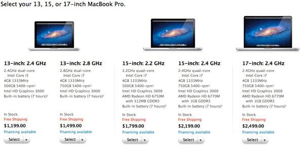 Новые Macbook Pro - вторая половина 2011