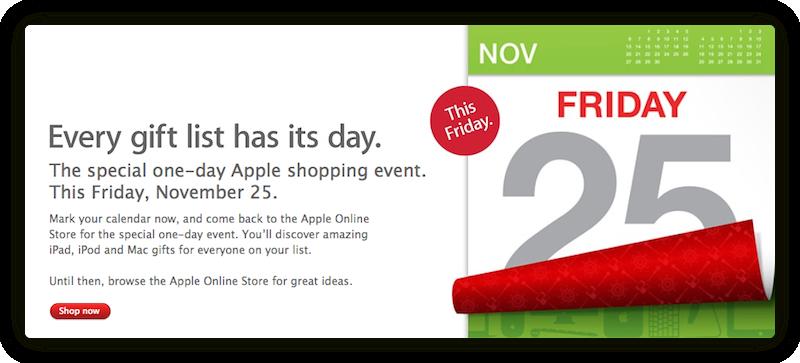 Apple готова к Черной пятнице