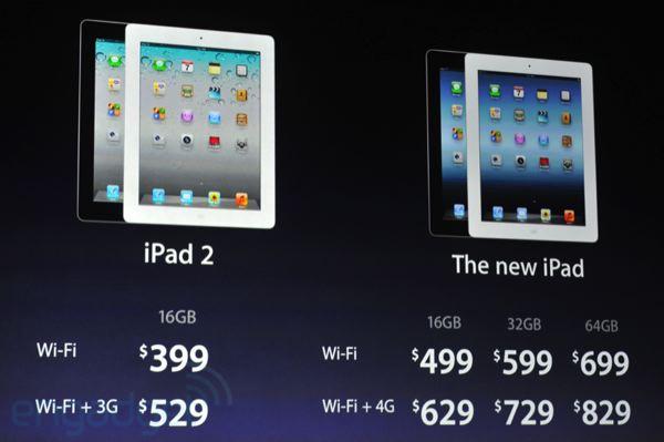Цены на iPad 3