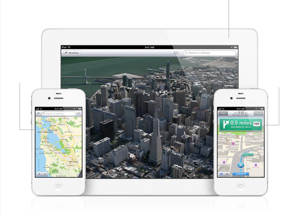 iOS 6 - Карты